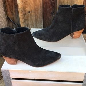 Coconuts By Matisse Black Suede Ankle Boots 9.5